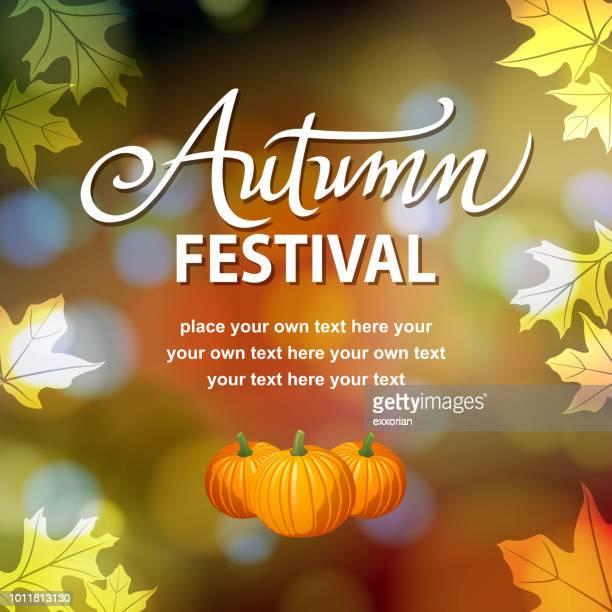 autumn festival celebration - harvest festival stock illustrations