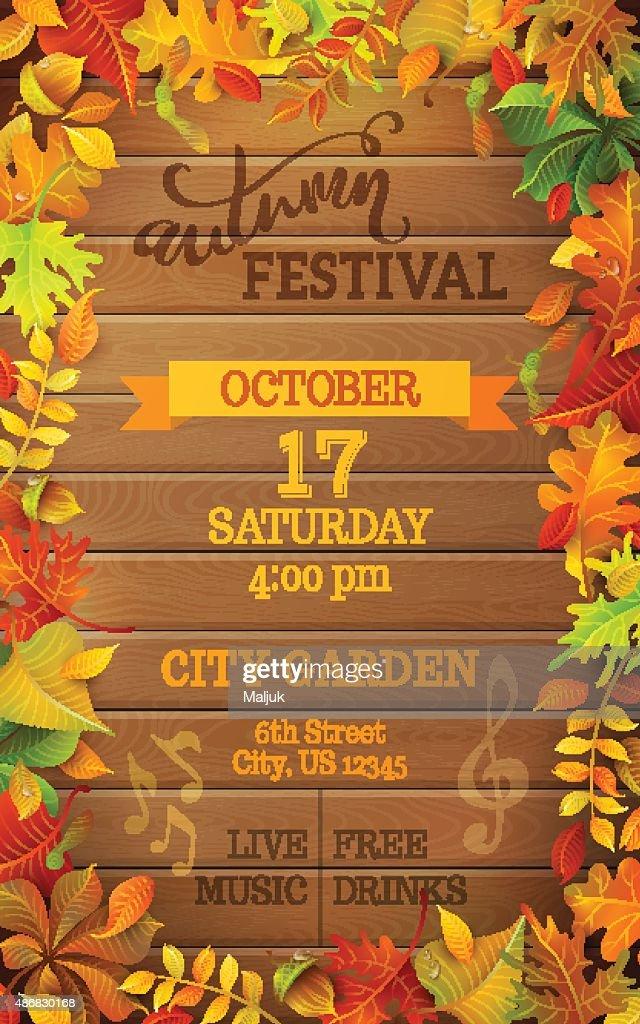 Autumn Festival template.