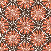 Autumn floral pattern. Vector seamless background texture. Fashion print for