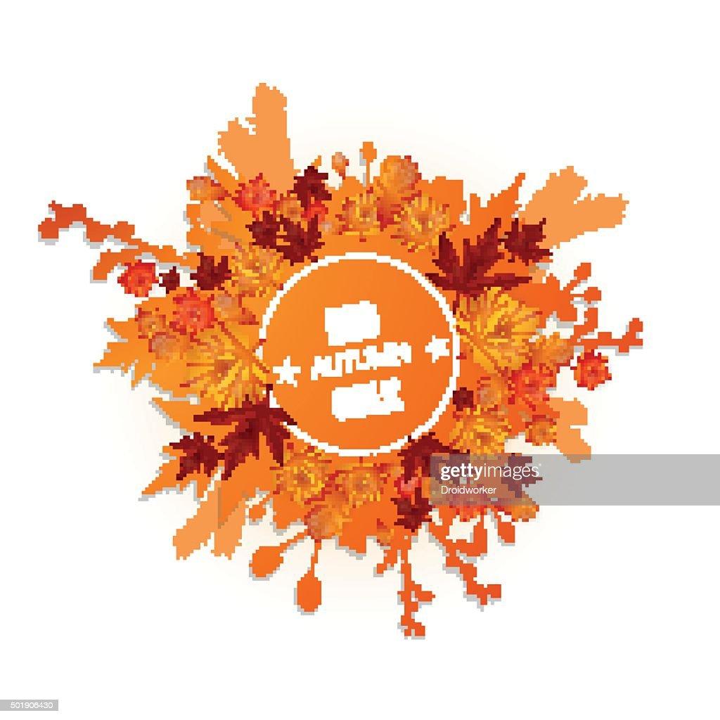 autumn foliage vector sale banner