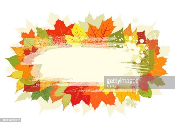 autumn greeting card - splashing droplet stock illustrations, clip art, cartoons, & icons