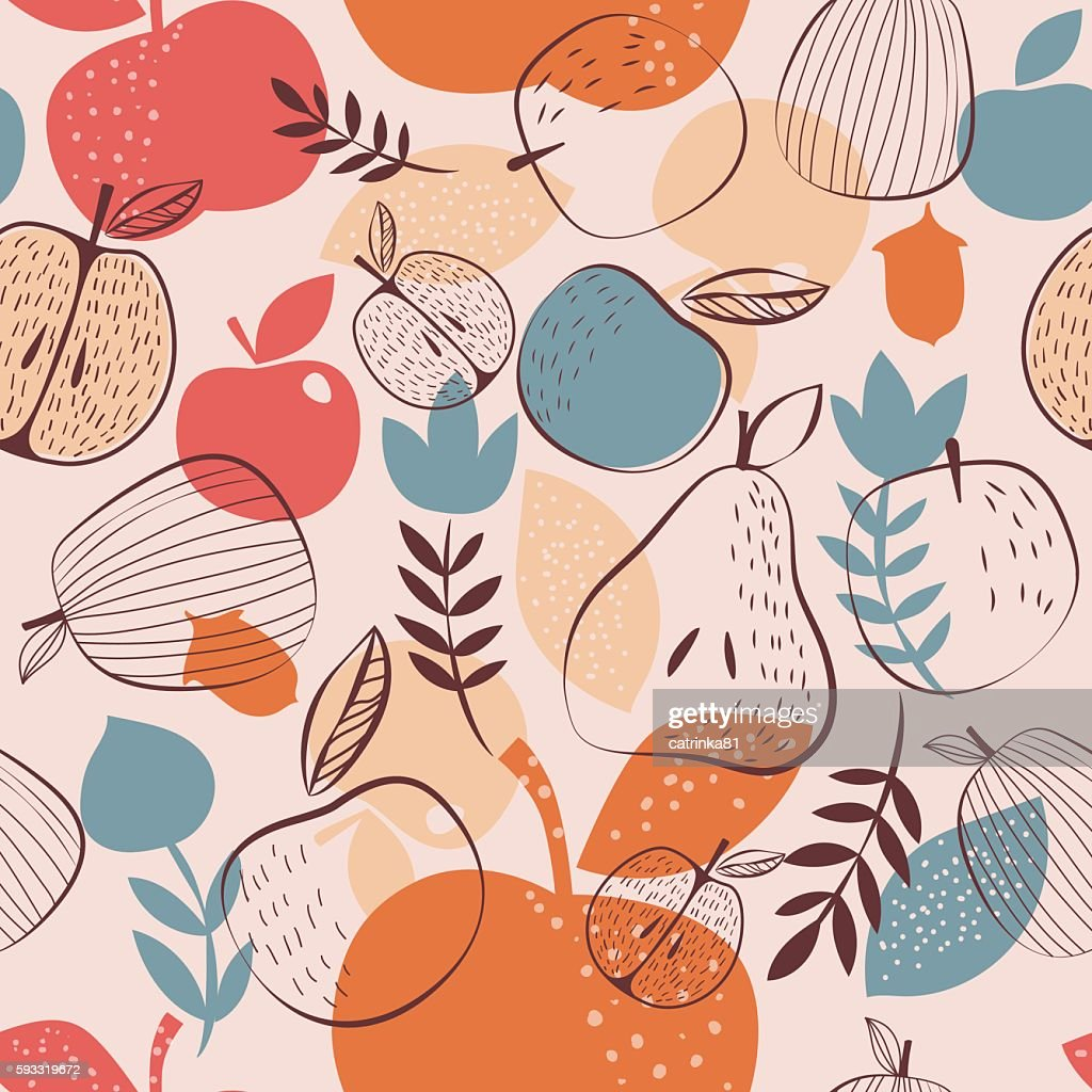 Autumn harvest seamless pattern