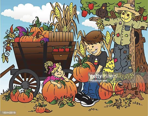 stockillustraties, clipart, cartoons en iconen met autumn harvest - september