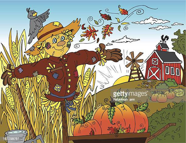 autumn harvest - corn crop stock illustrations, clip art, cartoons, & icons