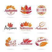 Autumn icon set.