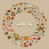 Autumn icons set