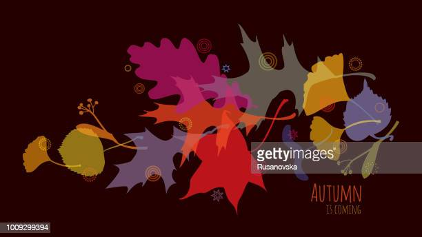 autumn is coming - falling stock illustrations