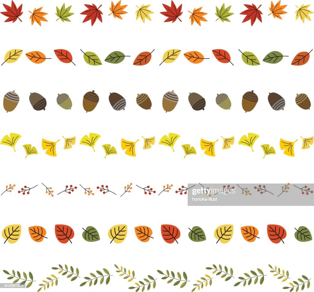 autumn leaf borders