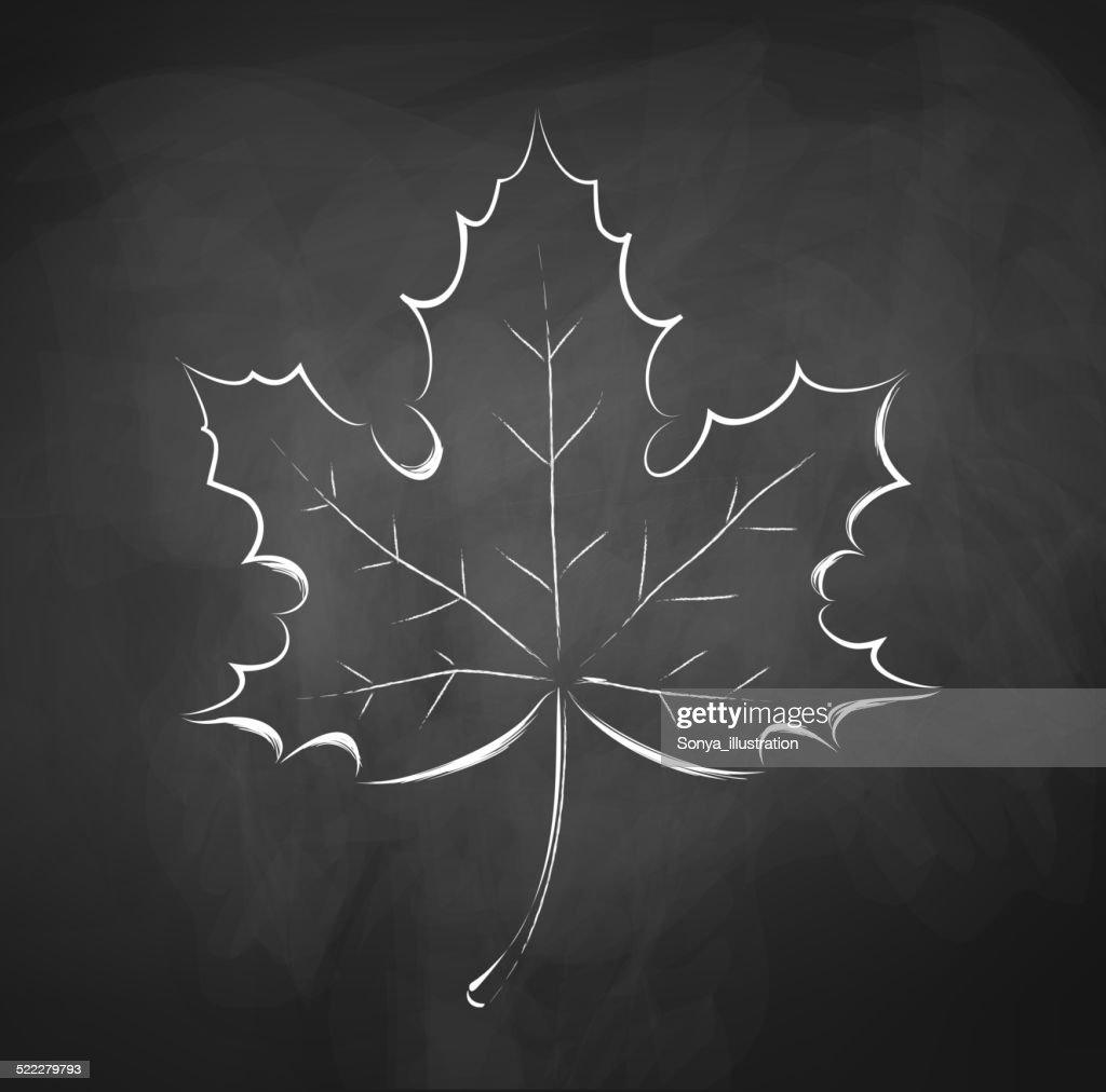 Herbst Blatt Tafel Zeichnen Vektorgrafik Getty Images