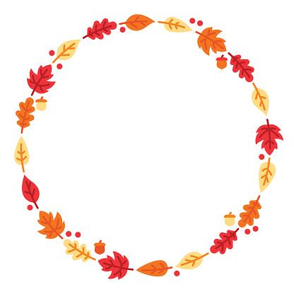 Autumn Leaf Circle - gettyimageskorea