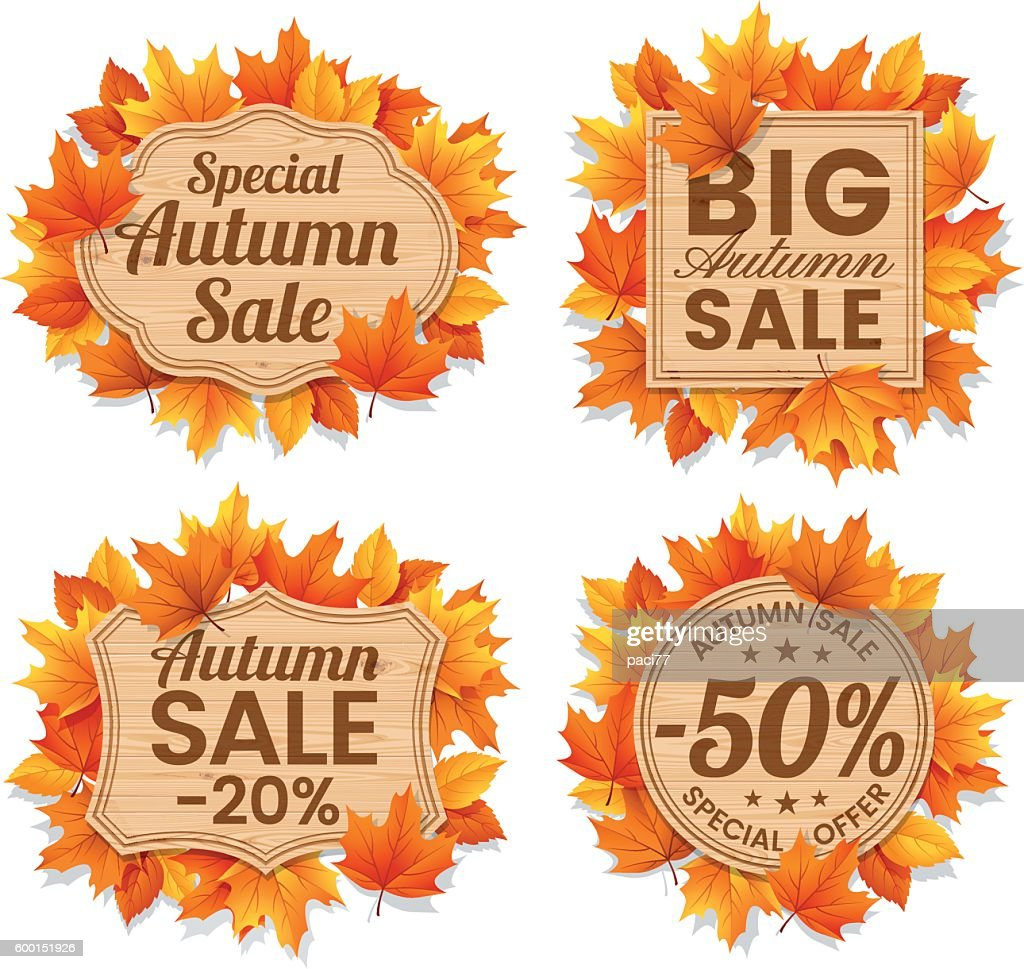 Autumn Leaf Sale Tags