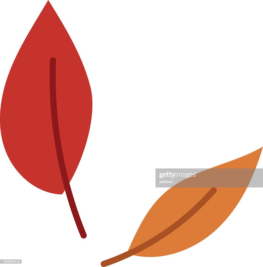 autumn leaf vector illustration. : Arte vectorial