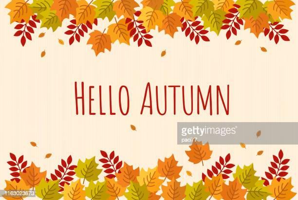 autumn leaves background - falling stock illustrations