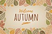 Autumn Leaves Border - Illustration