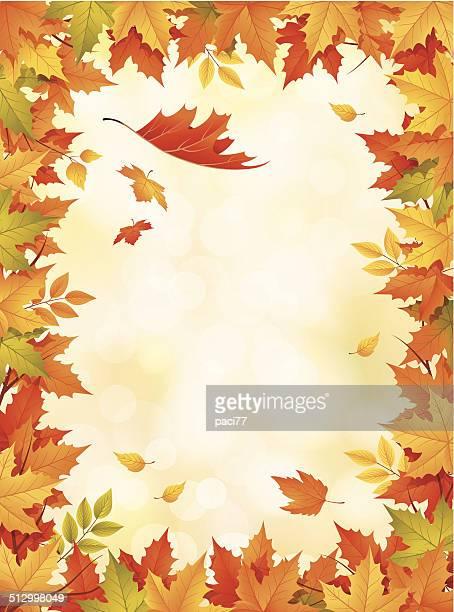 Marco de hojas de otoño