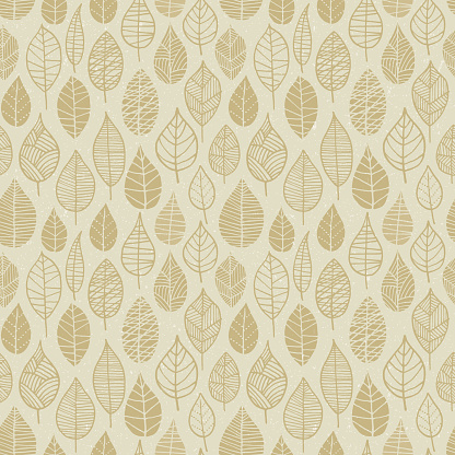 Autumn Leaves seamless pattern - gettyimageskorea