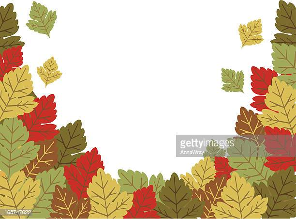 autumn leaves - plant attribute stock illustrations, clip art, cartoons, & icons