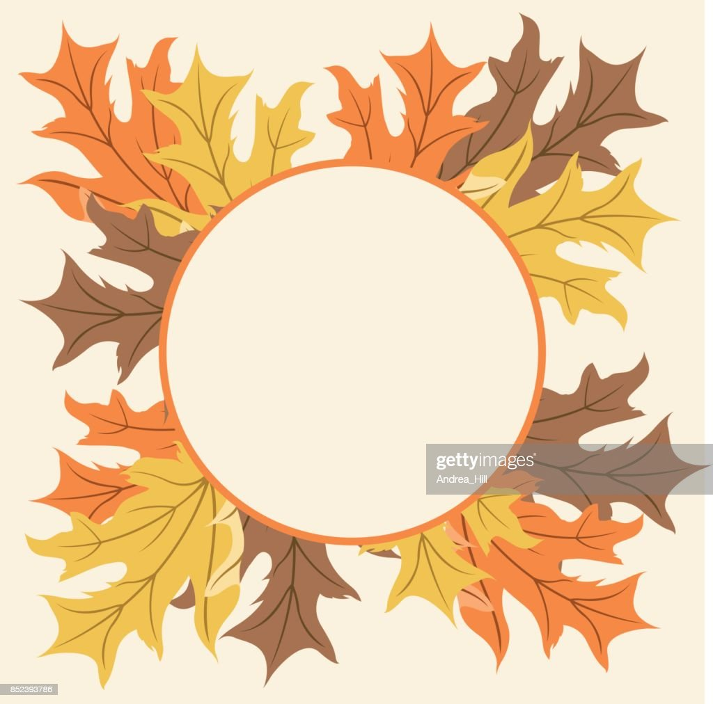 Autumn Maple Leaf Frame With Copy Space Vector Art | Getty Images