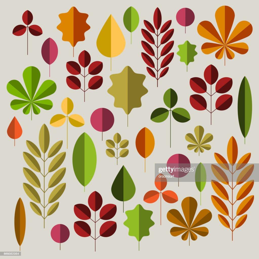 Autumn minimalist abstract floral background pattern