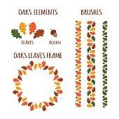 Autumn oaks elements.