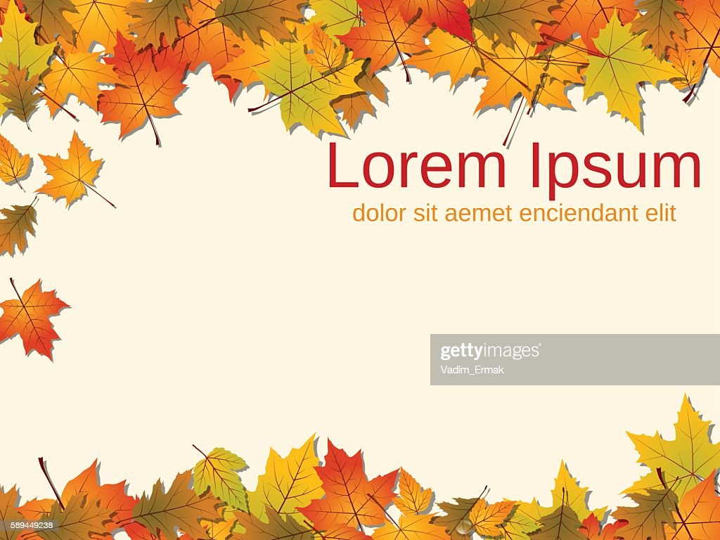 Autumn paper background