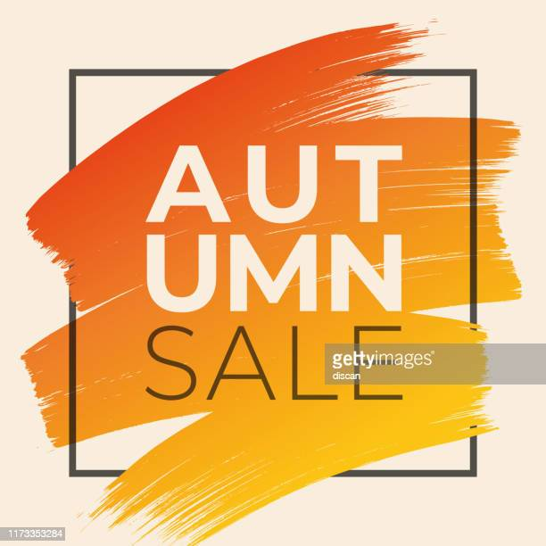 autumn sale design for advertising, banners, leaflets and flyers. - design element stock illustrations