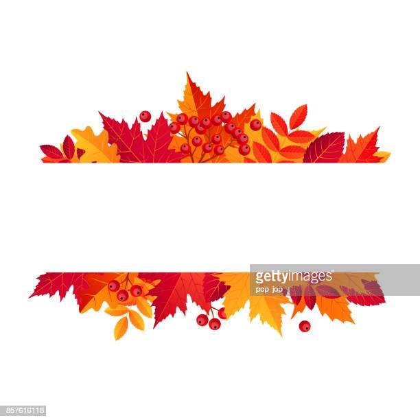 autumn sale horizontal banner. vector illustration template - autumn stock illustrations
