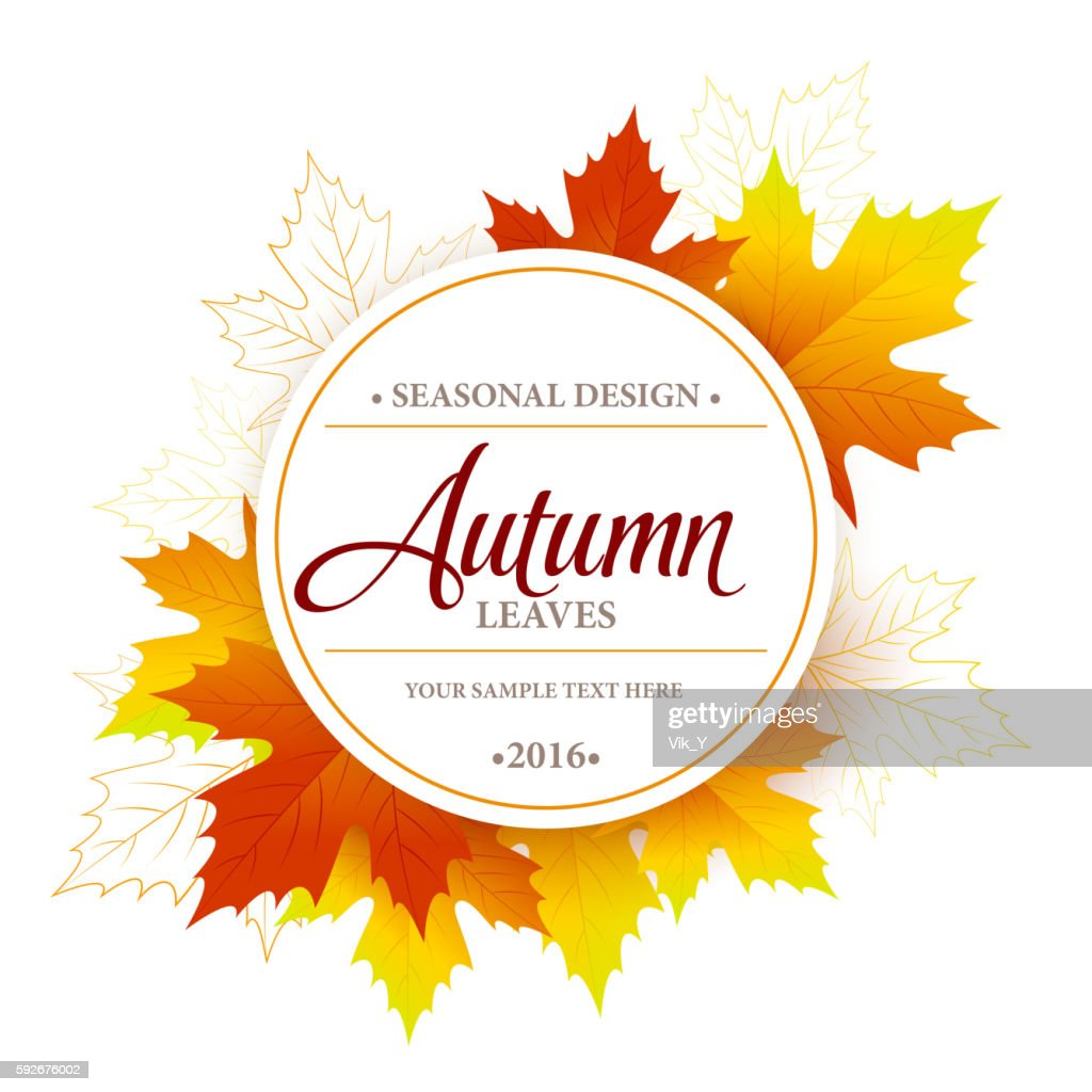 Autumn sale seasonal banner or poster design