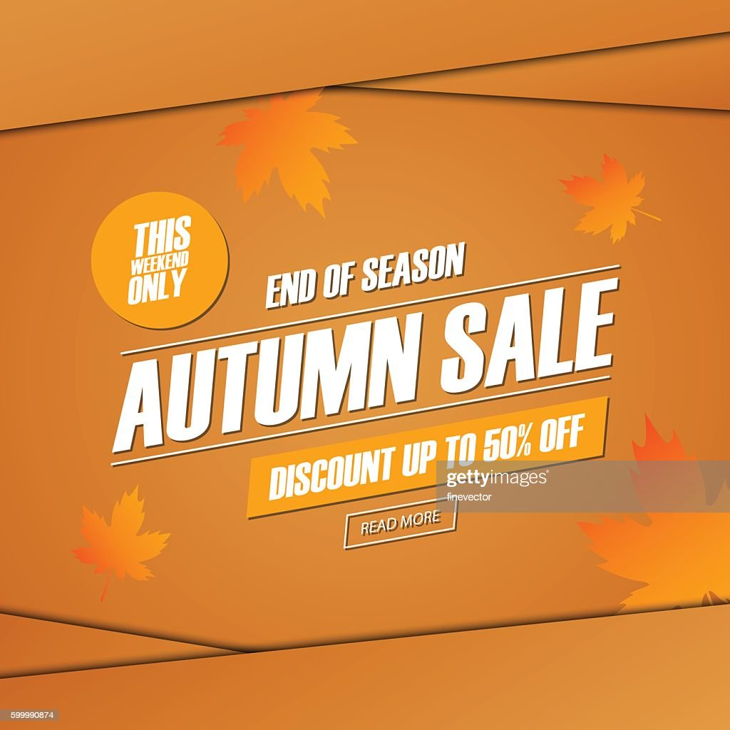 Autumn Sale. This weekend special offer banner.