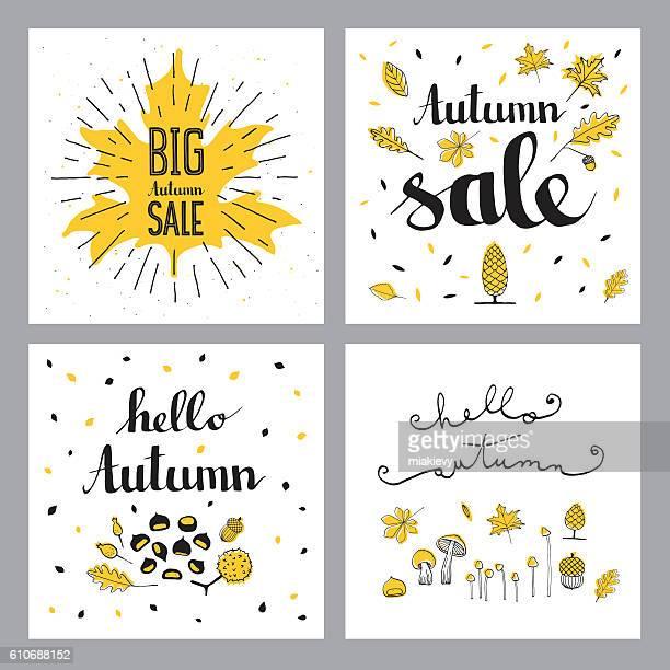 Autumn sales set
