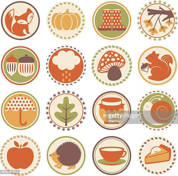 Autumn Season - Circle Icons