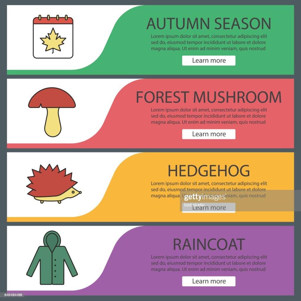 Autumn season icons