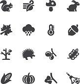Autumn Silhouette icons | EPS10