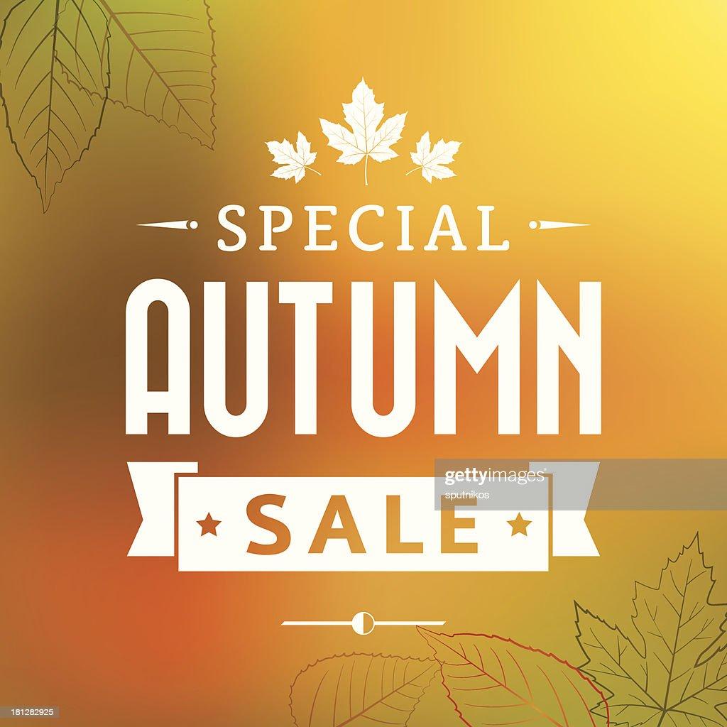 autumn special sale vintage vector poster