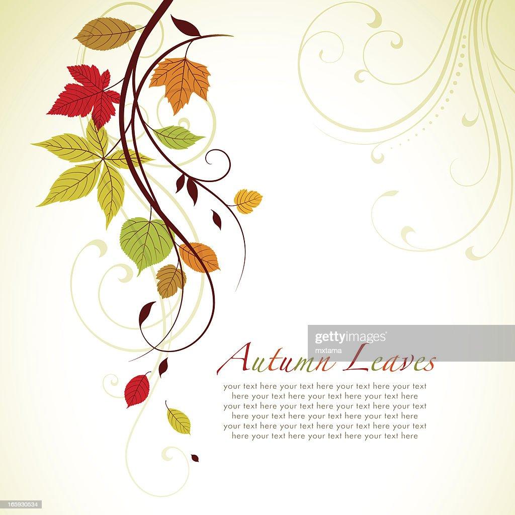 Autumn Swirl Background