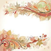 Autumn swirl design