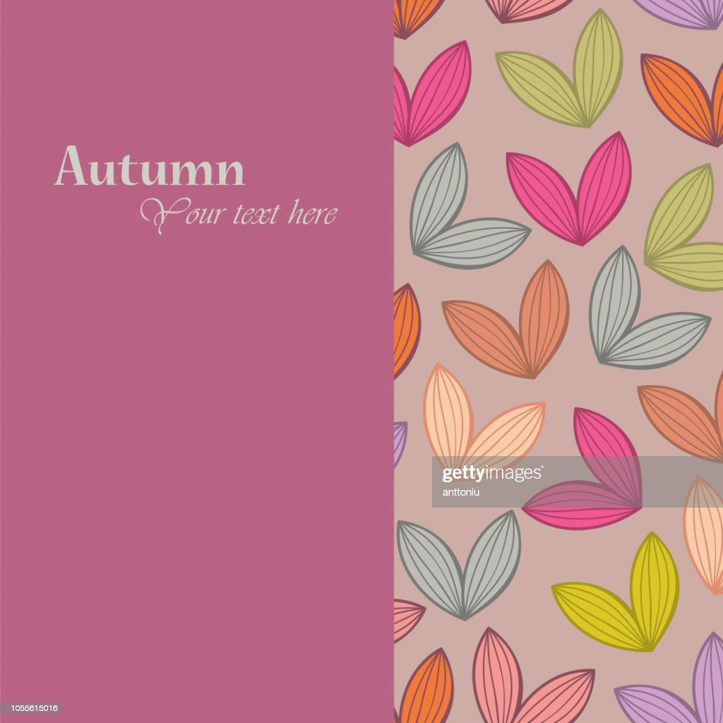 Autumn theme falling leaves vector illustration