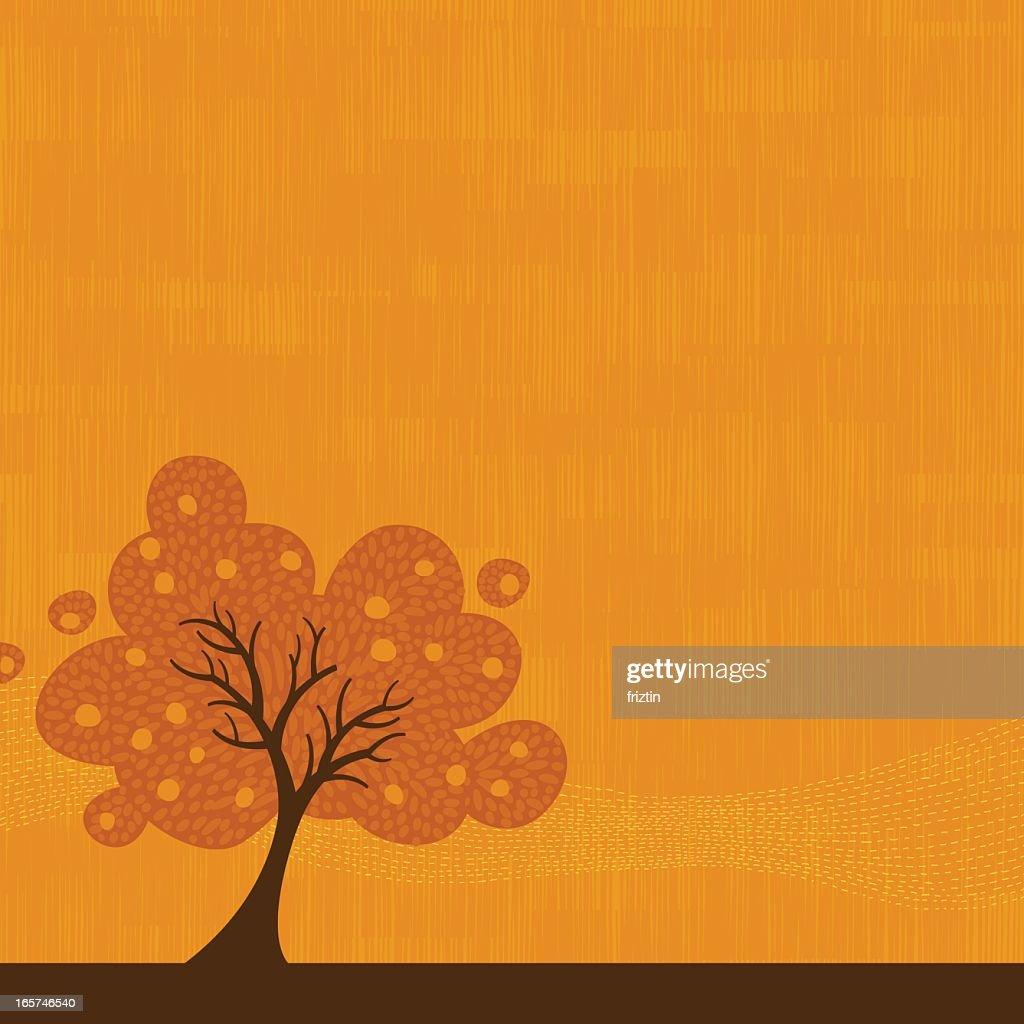 Autumn tree background illustration