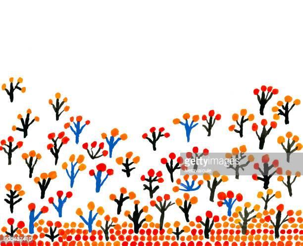 Herbstliche Bäume Grenze, Muster