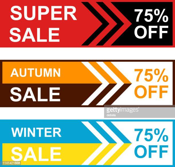 Autumn Winter Seventy Five Percent Sale Web Banner Collection