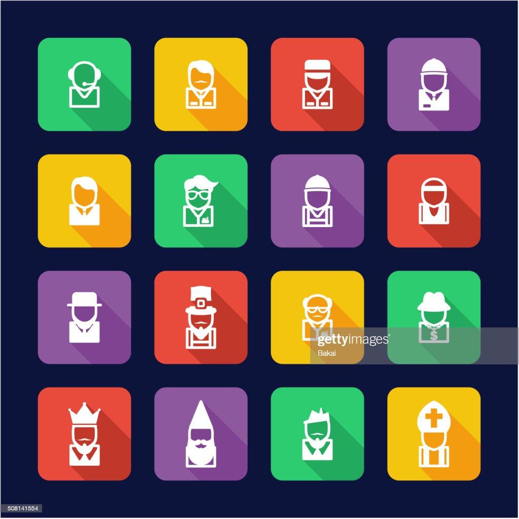 Avatar Icons Set 4 Flat Design