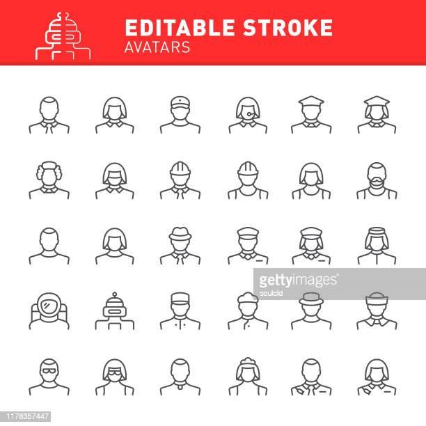 avatar icons - baker occupation stock illustrations