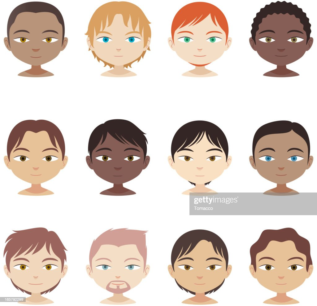 Avatar Profile Avatars head and shoulders multi-ethnic people