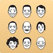 Avatar Profile Avatars Single Line Head special characters People