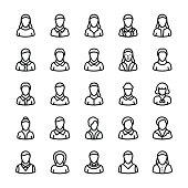 Avatars Line Vector Icons 1