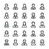 Avatars Line Vector Icons 2