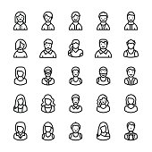 Avatars Line Vector Icons 3