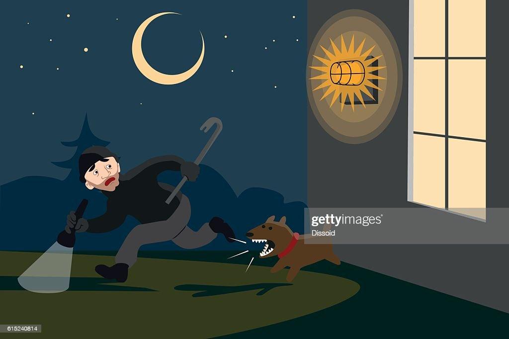 Averted burglary at night