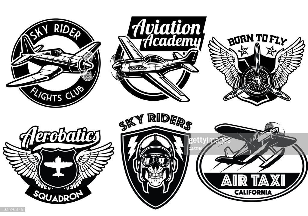 aviation badge set