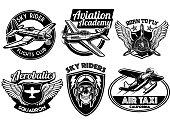 aviation badge set